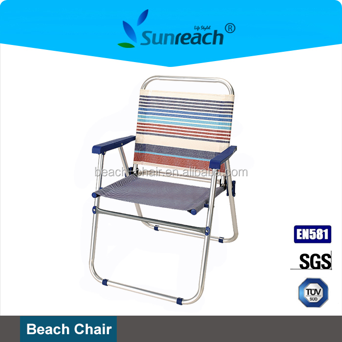 Aluminum Reclining Camping Chair folding beach lounge chair