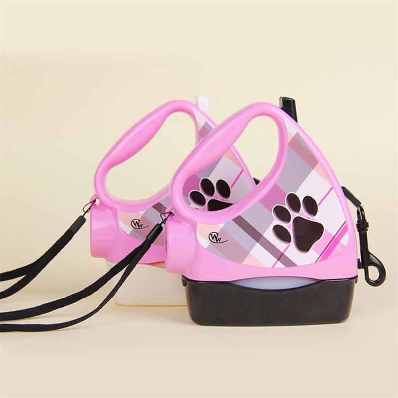 10ft Retractable Dog Leash Pet Dog Puppy Walking Leashes Multifunctional With Garbage Bag&Water Food Dog Bowl