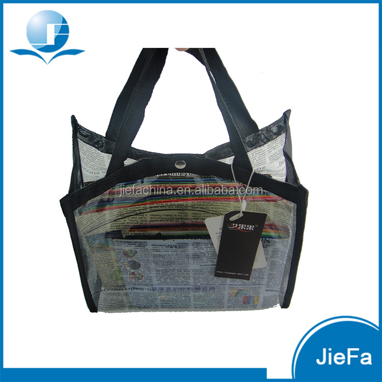 Custom Size/Color Waterproof Printing Transparent PVC Hand Bag
