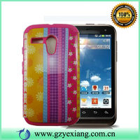 2014 New 2 in1 Sublimation Silicon Phone Case For Moto X Phone
