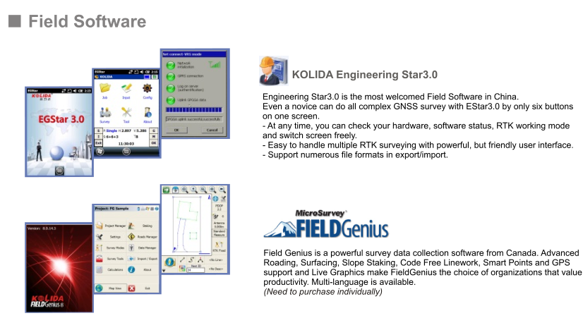 Kolida Post-processing Software K5 Plus gps rtk surveying ,KOLIDA GNSS Processor