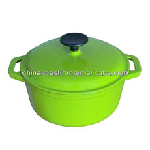 green enamel cast iron pot cookware