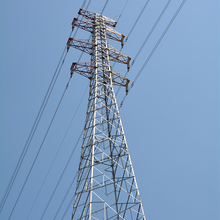 High voltage 132kv terminal angle steel electric power transmission line steel tower