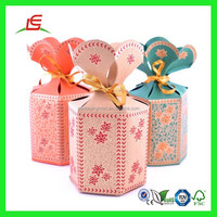Q887 New Design Indian Wedding Favor Boxes With Flower Top, Wedding Favor Box, Valentines Party Gift Favor