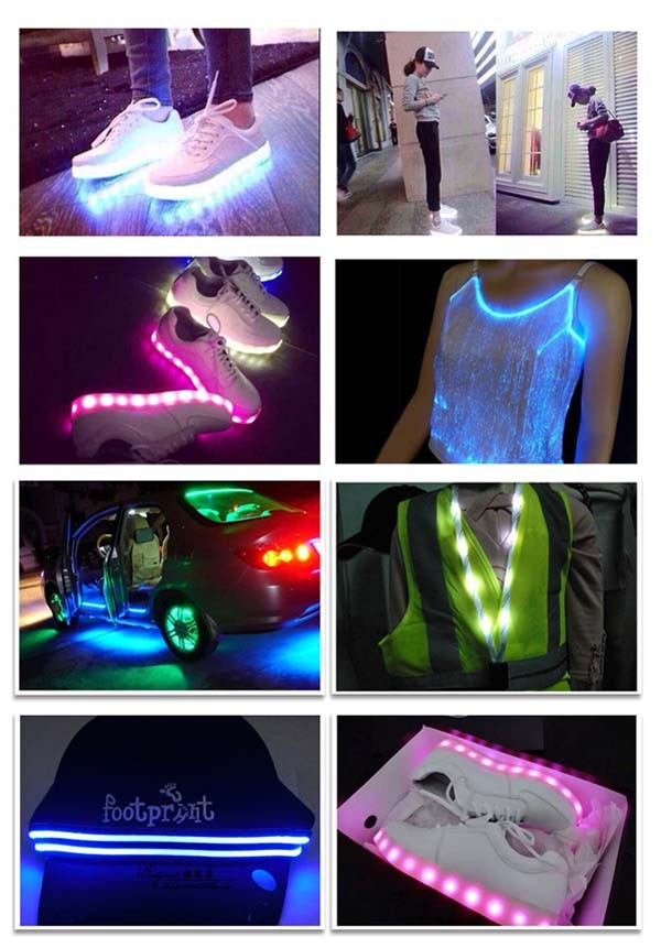 Cool and fashion Rgb led Strip light guzhen factory price 3528 led lights for shoes free sample