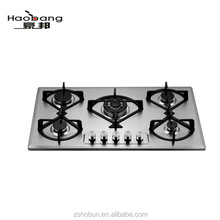 stainless steel Built-in 5 burner gas hob