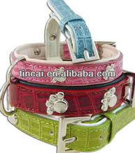 Hot sale PU/Genuine Leather Pet product With Rhinestones