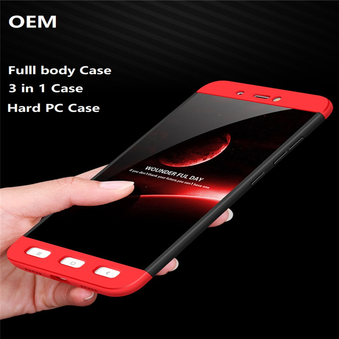 OEM 360 Degree Full Cover 3 In1 Hard PC Back Cover For Xiaomi Mi 5 5S 6 5X Max 2 Redmi Note 4 4X Case