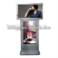 42&42inch high definition lcd dual screen advertising media player