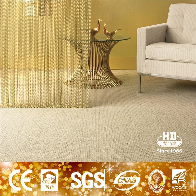Korean Style Antifungus Tufted Wool Carpet For Reception Hall