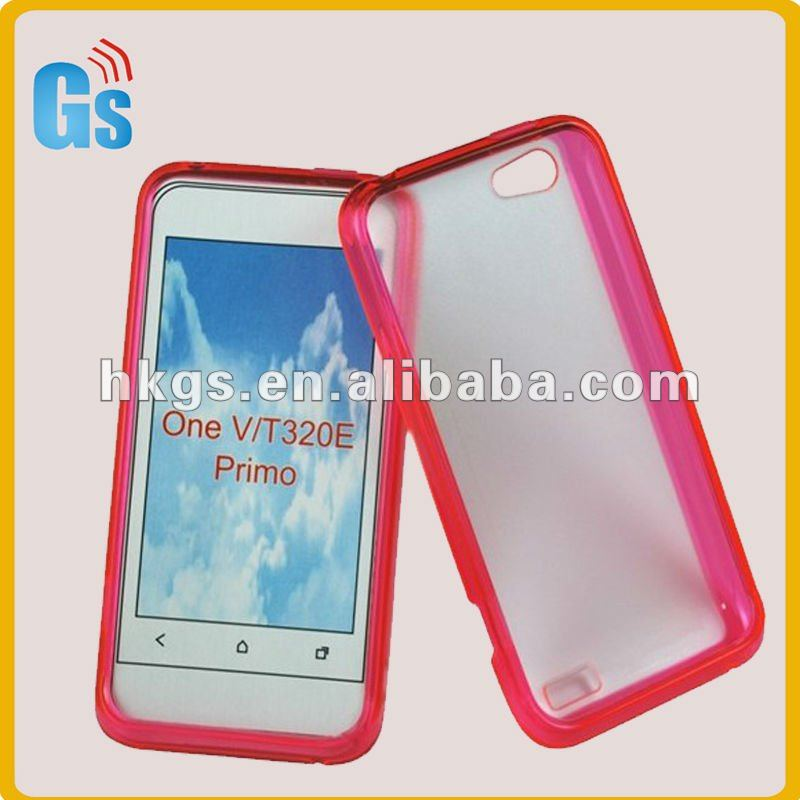 Newest TPU Rubber Plastic Bumper Case Cover for HTC one V