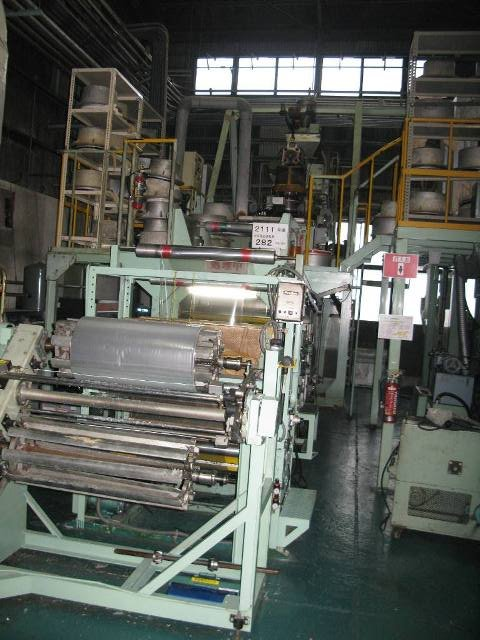 USED PLASTIC FILM INFLATION MACHINE 9 SETS