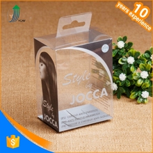 Manufacture clear PVC packaging display box for hair products