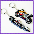 Chinese factory custom soft pvc motorcycle keychain