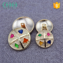 Wholesale colorful exquisite fashion metal round button