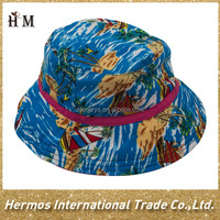 Cheap fashion wide brim soccer bucket hat high quality kids bucket hat floral pattern