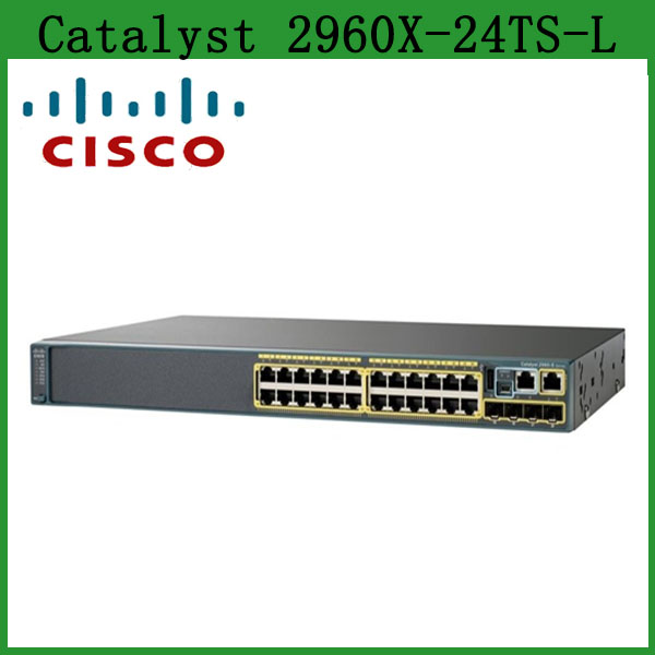 Catalyst WS-C2960X-24TS-L 24 port Optical Ethernet Gigabit Switch with 4 port SFP, LAN Base