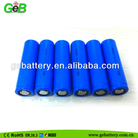 best performance Li-ion 18650 3.7V battery / cylindrical rechargeable Li-ion battery 18650