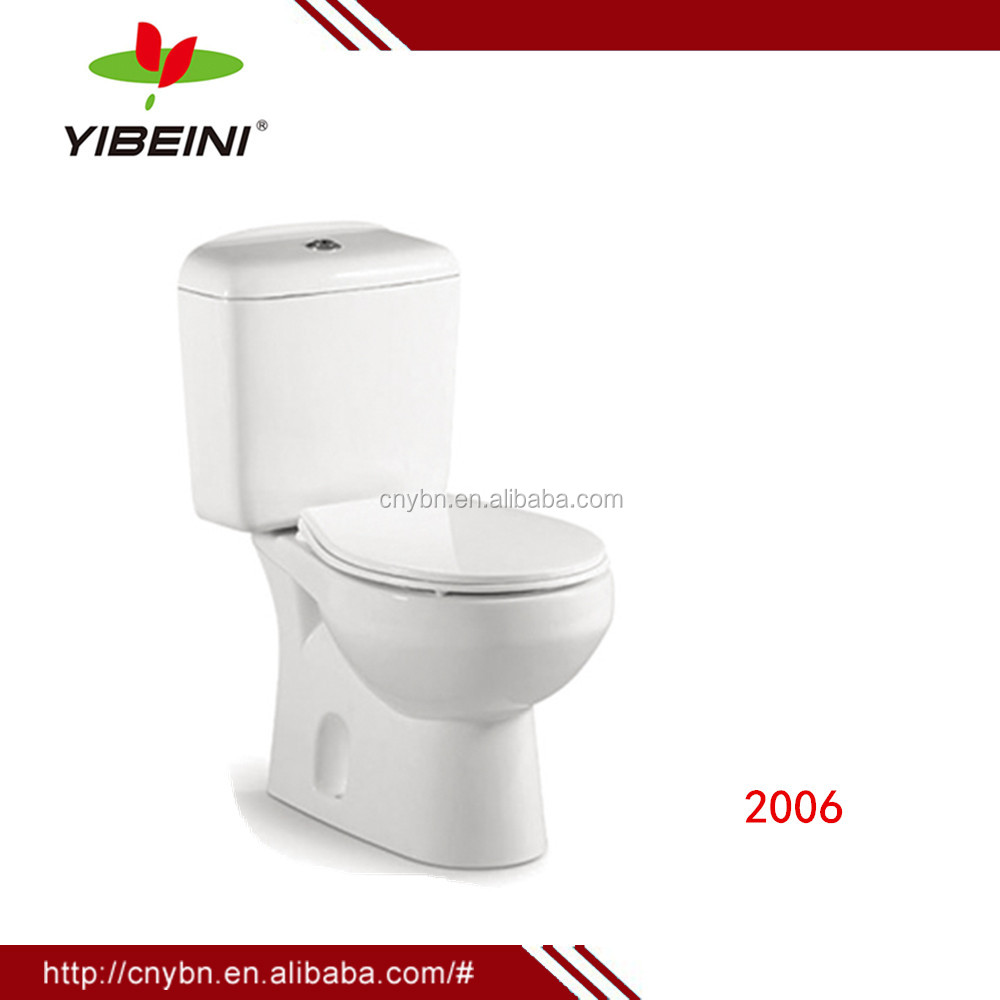 China Manufacturer Bathroom Accessories Two Piece Ceramic Toilet Bowl