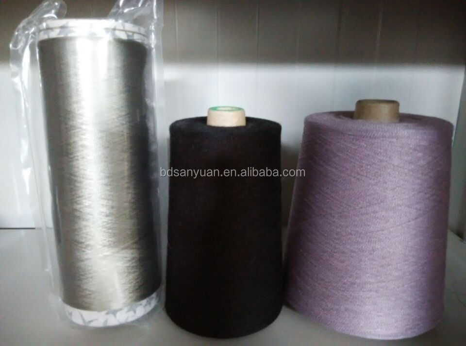 silver fiber coated anti-radiation conductive yarn for fabric