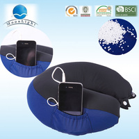 alibaba china hot sell u shaped massage neck pillow with speaker made in China