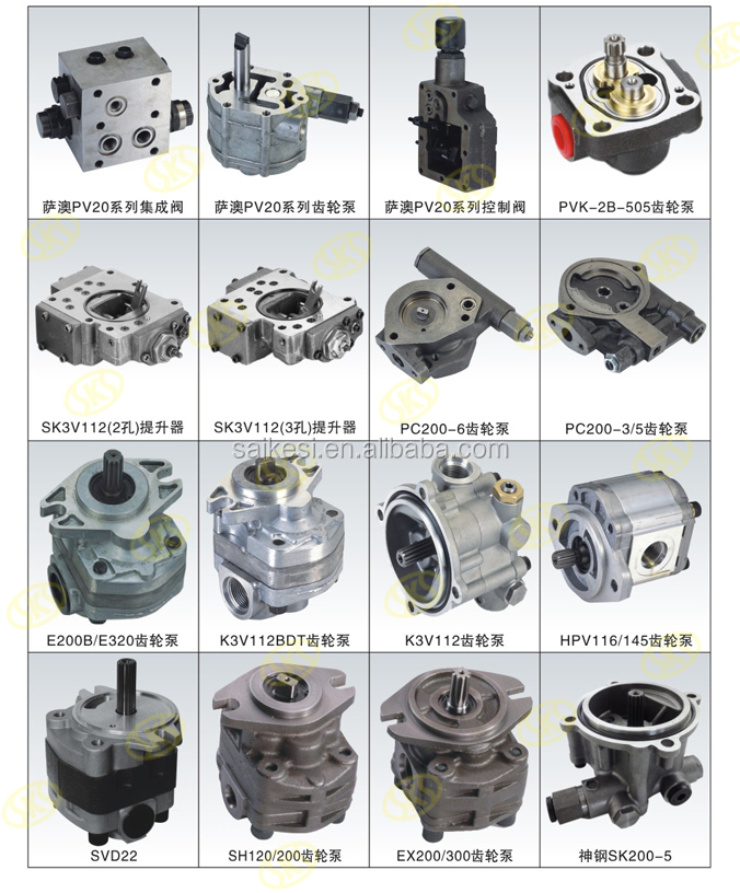 HPV90 Hydraulic Gear Pump Oil Charge Pump For Construction Machine