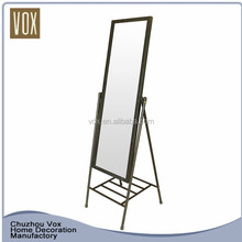 Modern Cabinet Style Wood Carving Mirror Frame