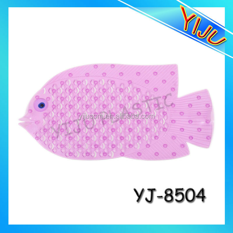 China green material funny anti alip fish bathroom rug