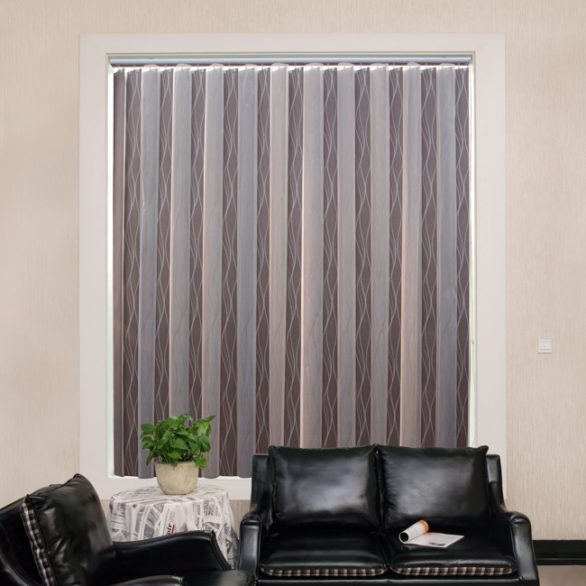 Sheer DS blinds controlled by stainless steel vertical blinds with factory price