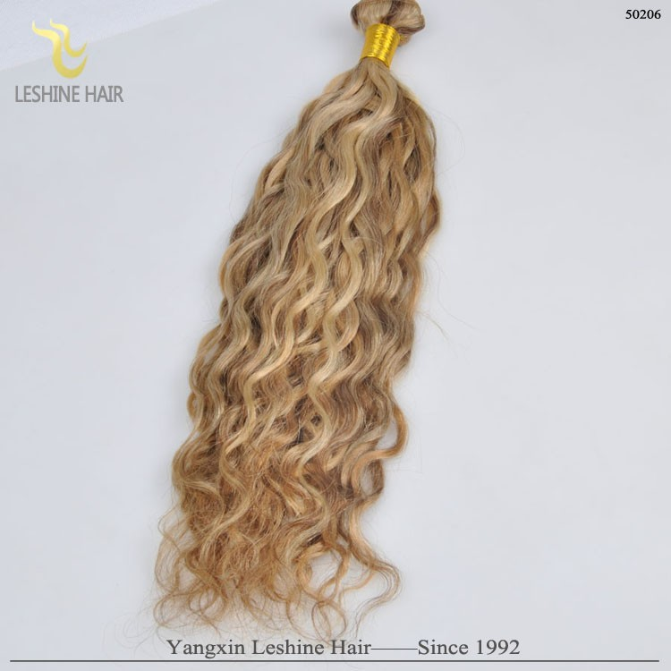 Hot Selling No Tangle Shedding Free Factory Wholesale Price blond spiral curl hair extensions