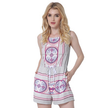 womens vintage clothing 2017 summer boho print floral playsuit
