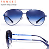 2017 Aviator Sunglasses Metal Frame For