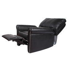 Comfortable home decoration widely use high end leather swivel recliner