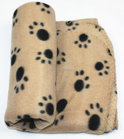 Lovely Pet Paw Prints Fleece Blanket