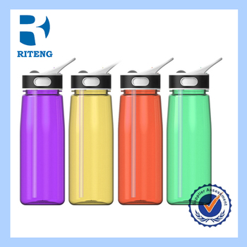 Tritan Plastic Drinking Sports Water Bottle With Straw