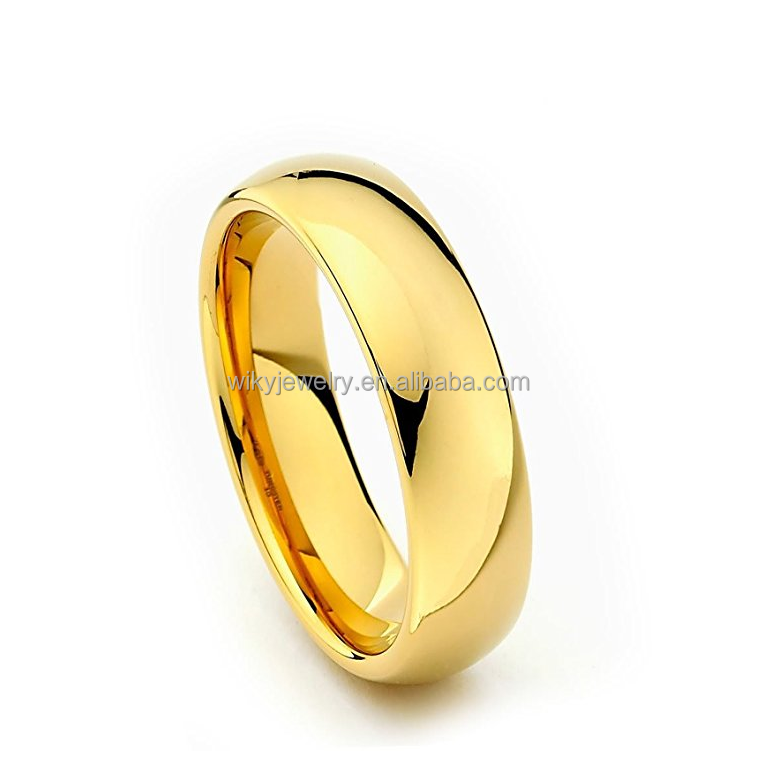 18k gold 6mm high polished engagement rings for men gold photos