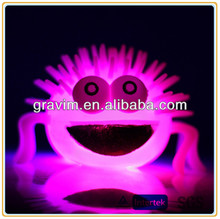 Light up spider shaped promotional puffer ball