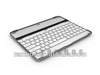 Aluminum Keyboard Case Wireless Bluetooth Keyboard with Aluminum Cover for iPad 2 3 4