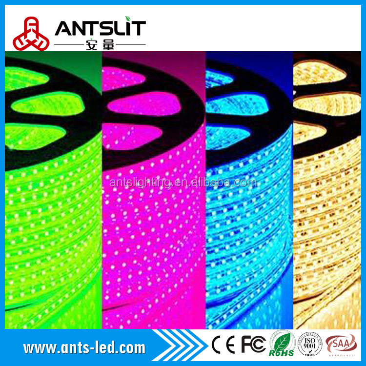 2016 Wholesale cheap price SMD5050 RGB 110v/220v DMX led strip light IP68 led rope light for Christmas decorating made in China