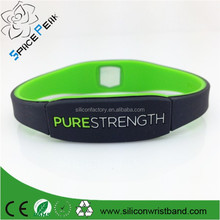 Paypal accepted Pure life strength xtreme bio energy silicone bracelet with 4000 negative ions bands
