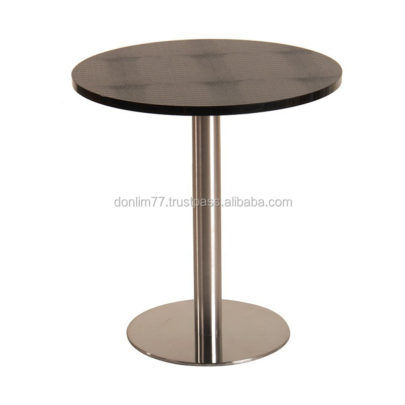 X4004 round coffee Table Plywood wood coffee tables stainless steel tables