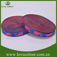 Guangzhou manufacturer direct sale polyester webbing/Woven webbing strap with custom logo