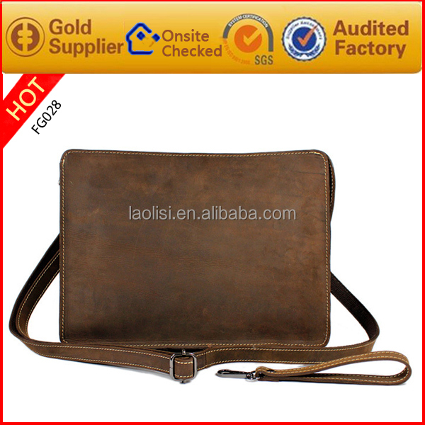 Unique design leather shoulder bag cell phone sling bag for teenagers