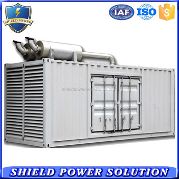 Container Type Silent Canopy Generator Set, 500KW Soundproof Generating Sets