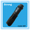 black T6 10W led zoomable rechargeable flashlight aluminum torch