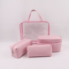 Clear pvc cosmetic bag with zipper