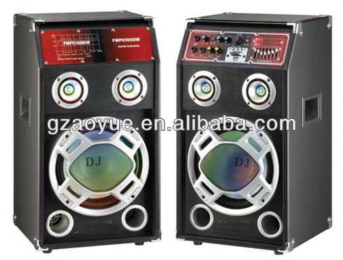 2.0 active professional usb sd fm subwoofer led dj sound speaker active box