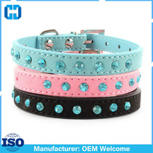 DIY Colorful Rhinestone PU Leather Pet Dog Crystal Cat Puppy Bling Collars