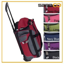 "21"" Carry On Rolling Upright Duffel Bag, Travel Hotel Luggage Trolley"