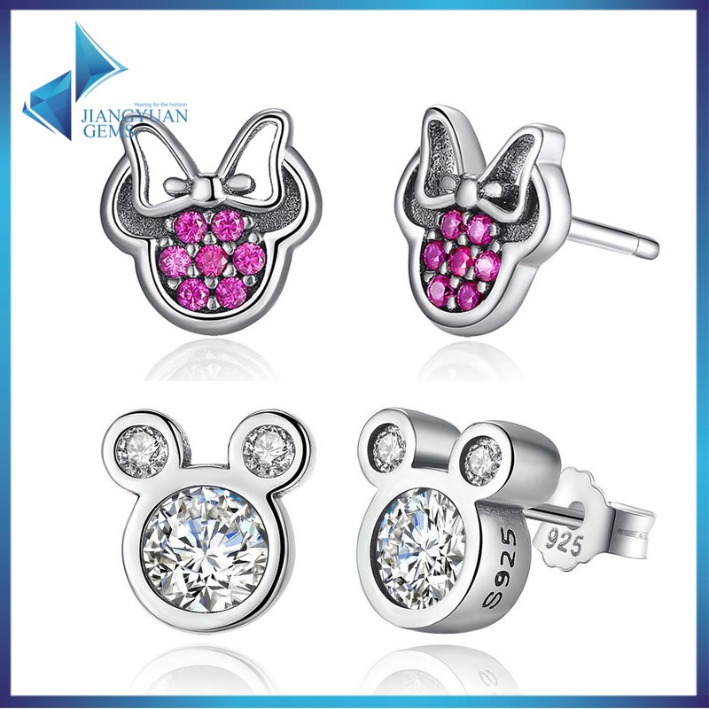 925 stering silver top rated Mickey Minnie <strong>earrings</strong>
